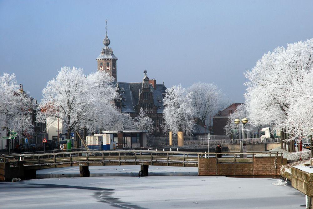 Winter in Middelburg Nederland, Winter sneeuw, Holland