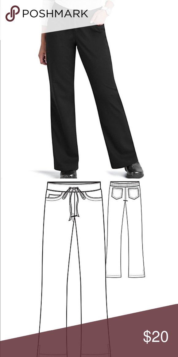 Greys anatomy black drawstring scrub pants   Scrub pants, Grays ...