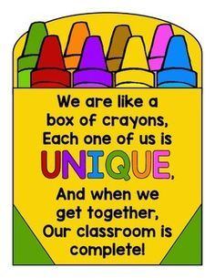 Back To School Activity And Display For The Crayon Box That Talked