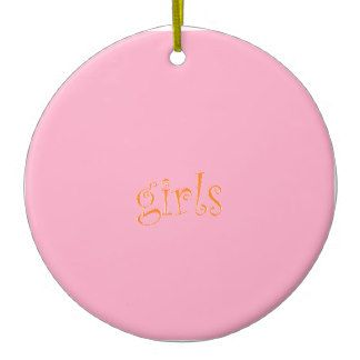 girls ceramic ornament