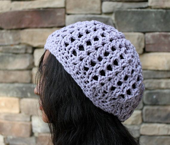 Lavender ShellStitched Slouchy Beanie by Threadmill on Etsy, $31.00