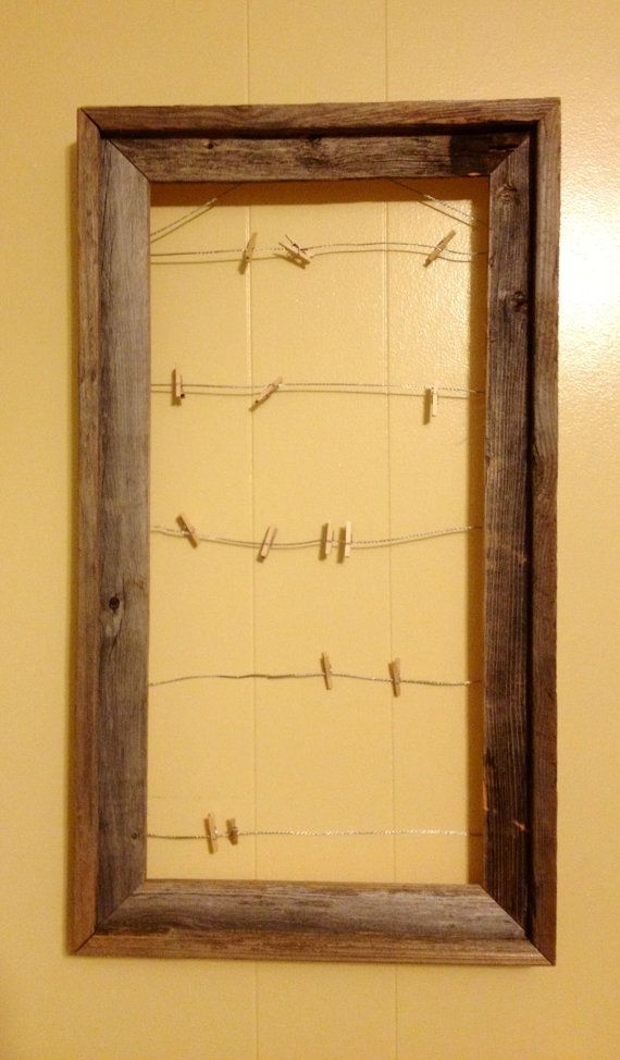 Clothes pin Wire Frame by AmeliaVidrine on Etsy, $35.99. Cute idea ...