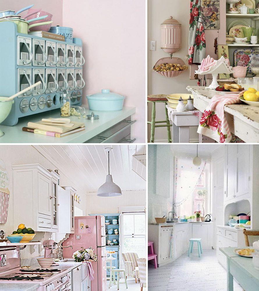 Pastel Kitchen Shabby Chic Blonde Home Decor Inspiration Pastels Shabby Chic