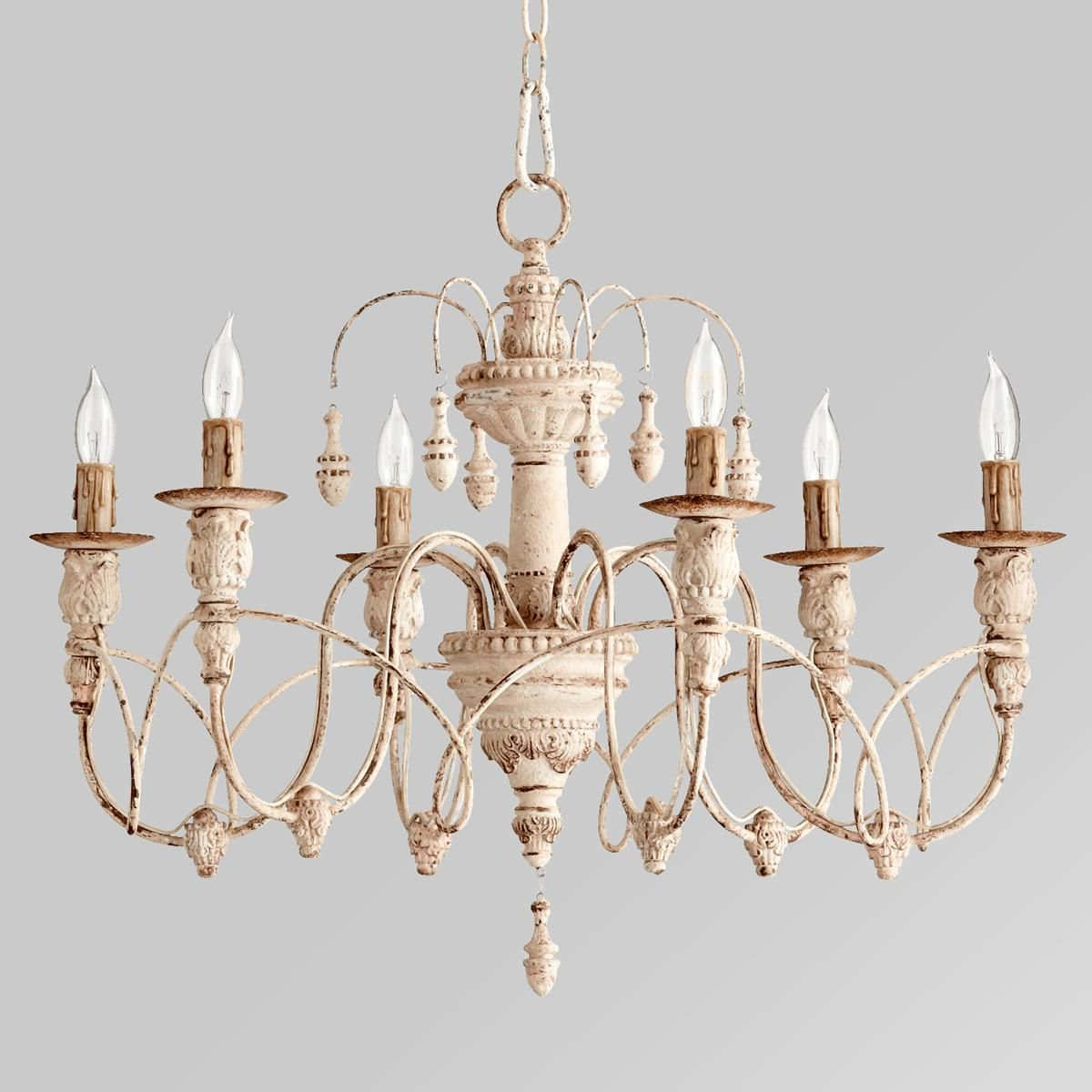 Gustavian style white chandelier veranda magazine chandeliers gustavian style white chandelier arubaitofo Gallery