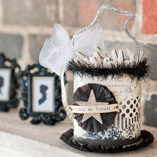Creative Halloween Treat Bags and Containers Scrapbook paper - halloween party decorations adults