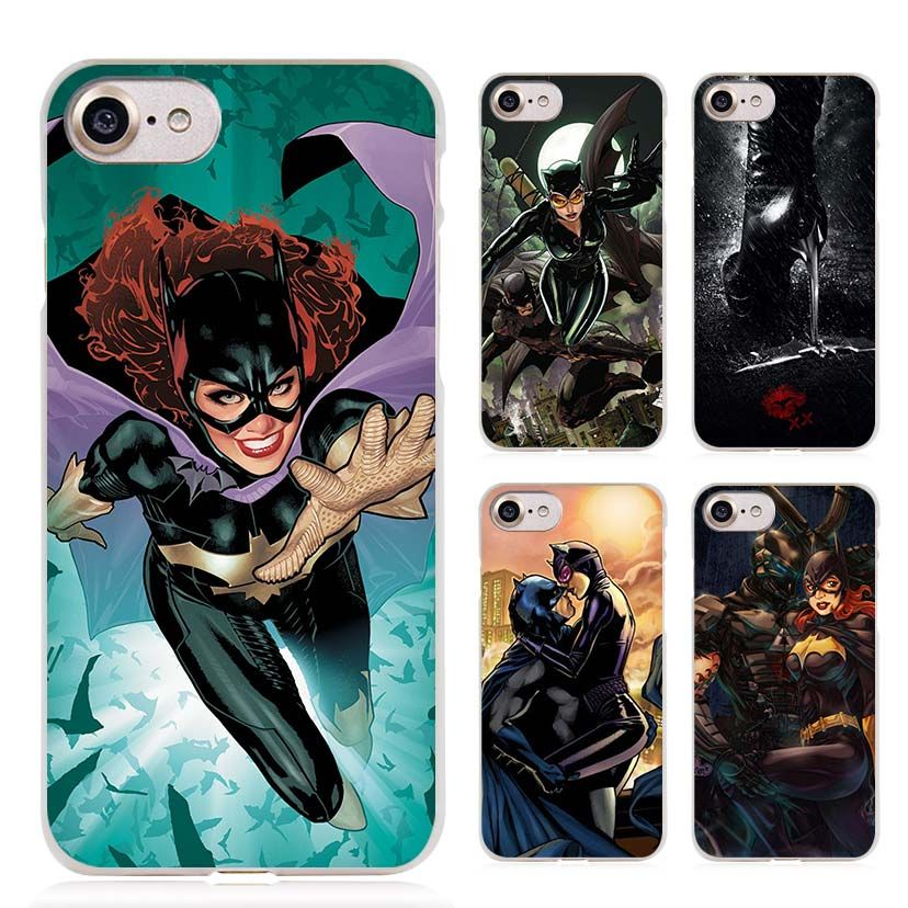 Catwoman Batgirl Batman Clear Cell Phone Case Cover for Apple iPhone 4 4s 5 5s SE 5c 6 6s 7 Plus
