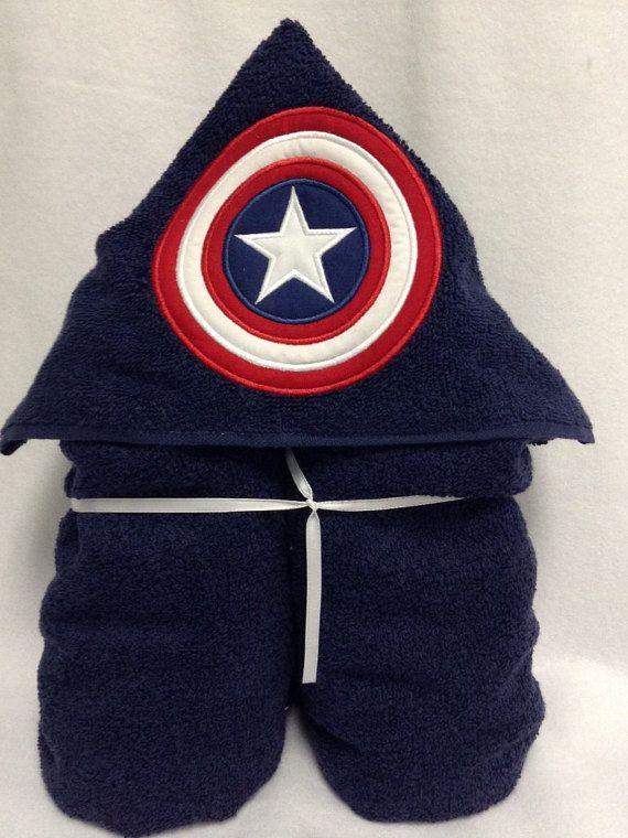 Marvel Avengers Toalla con Capucha del Capit/án Am/érica