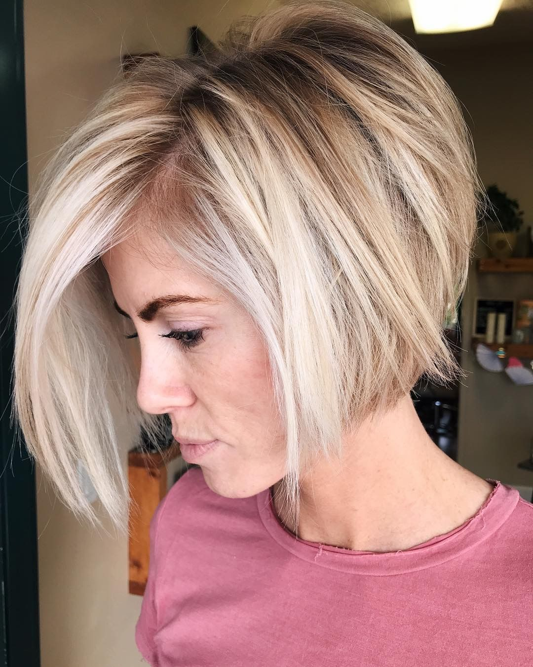 Pin by BuSt on Beauty  Stacked haircuts, Thick hair styles, Bob