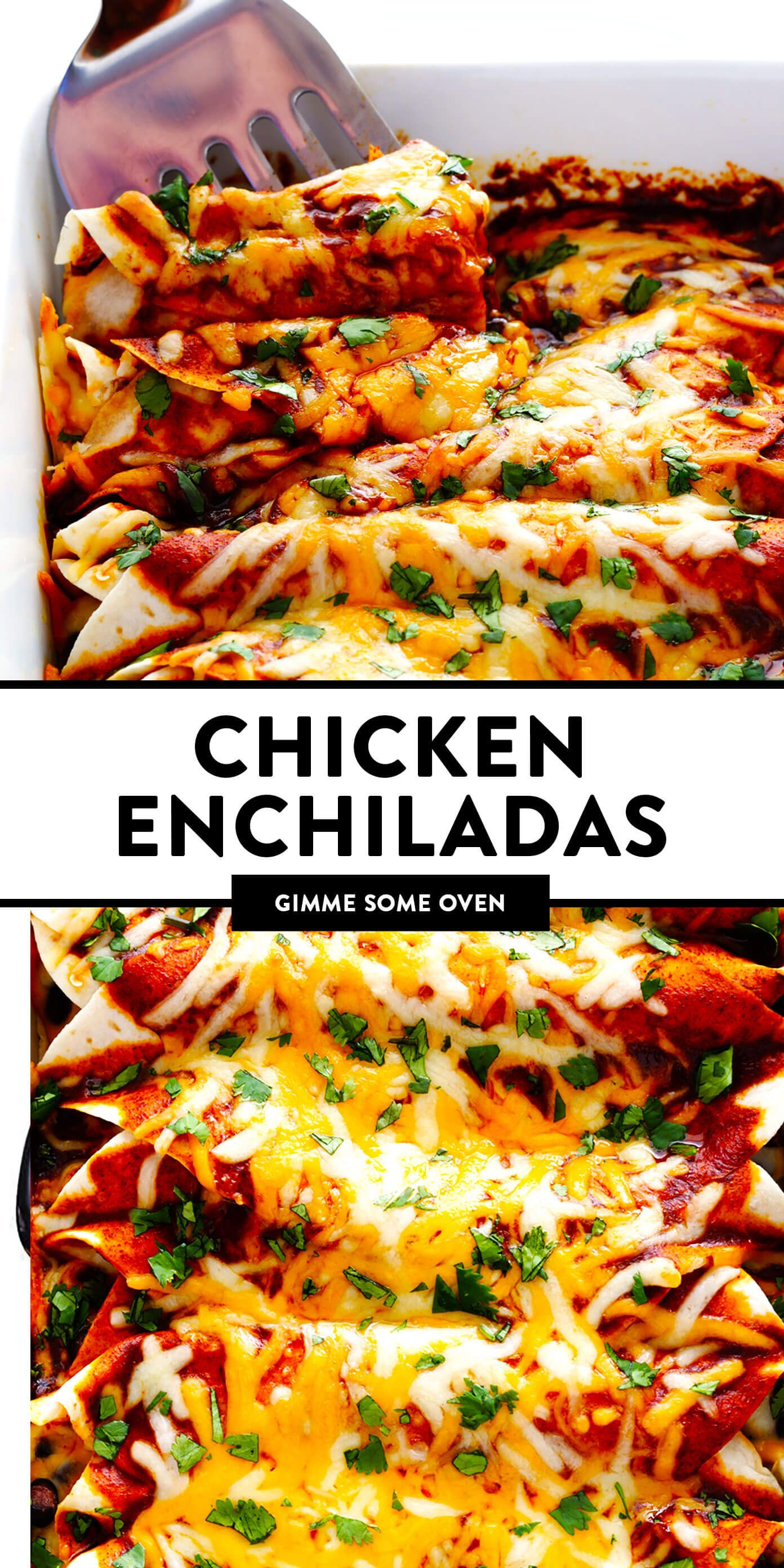 LOVE this easy chicken enchilada recipe Its made with the most delicious homemade enchilada sauce chicken cheese and whatever other fillings you love most Always a great...