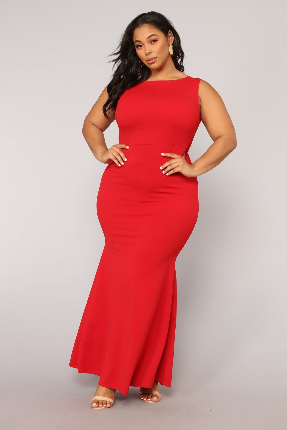 Such A Lady Ruffle Dress Red Red dress