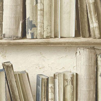 Carta da parati libreria antica beige 10 m prezzi e