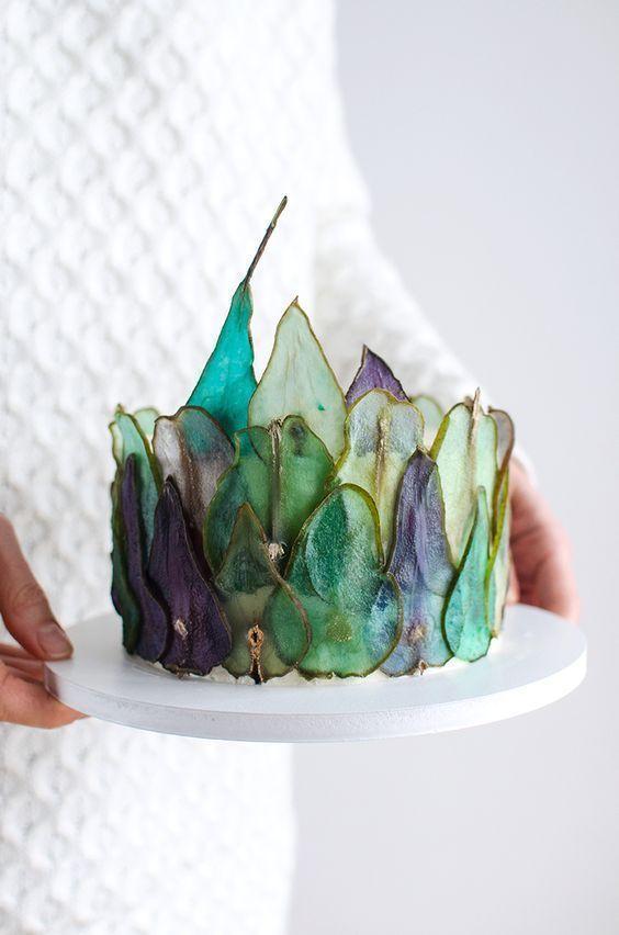 Wie man bunte Birnenscheiben macht, um DIY-Kuchen zu dekorieren   – INSPIRATION