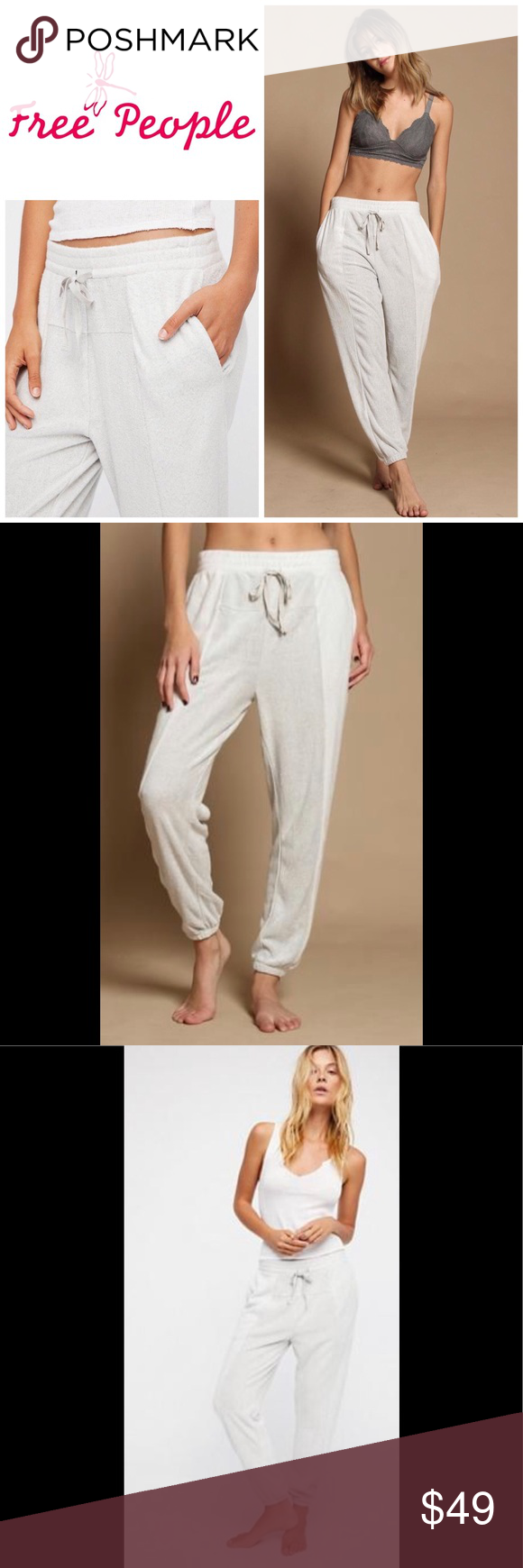 Free People all day all night jogger. NWT So soft and cozy joggers perfect for relaxed day to night...