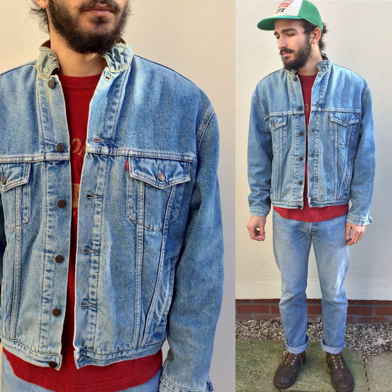 ac7ae32f2 Vintage Levi Blanket Lined denim jacket. Levi's 90's size XL Large ...