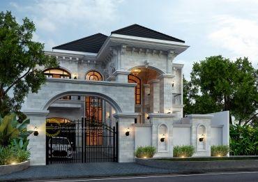 desain rumah mewah style klasik dan mediteran tropis di