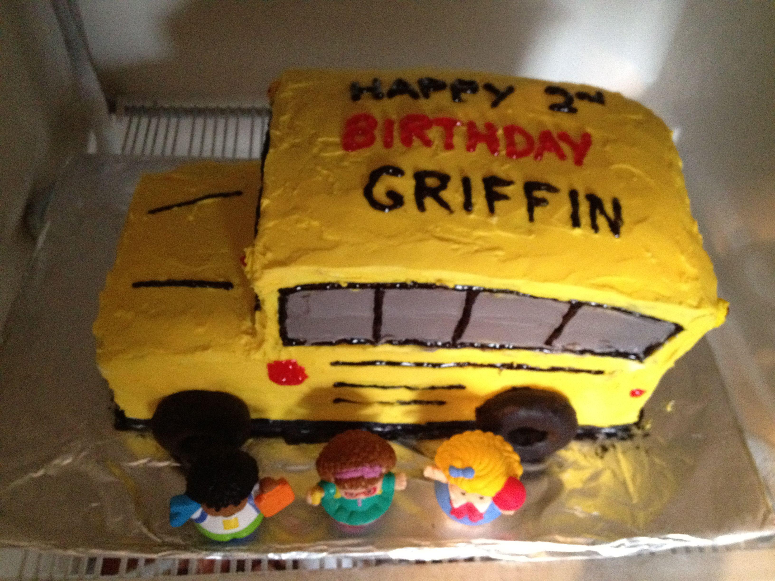 School Bus Birthday Cake Griffin Pinterest School Buses