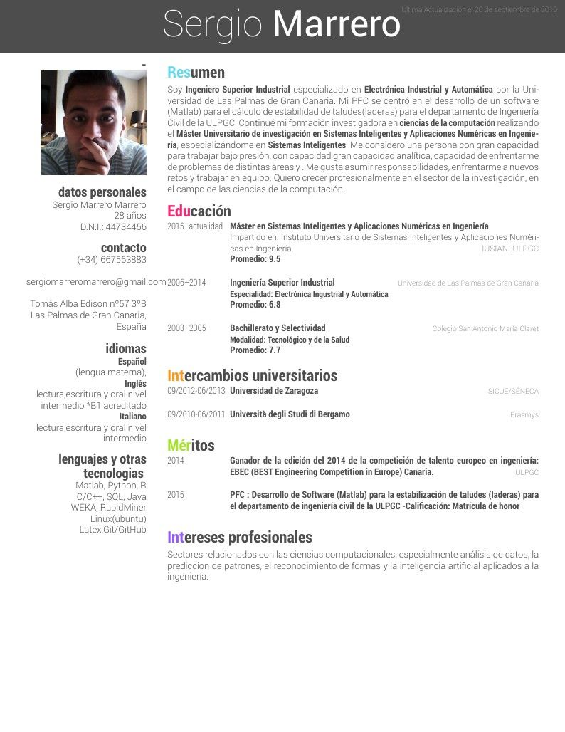 CV Overleaf Computacion, Educacion, Ingeniero