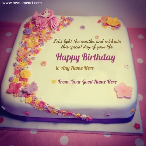Write Name On Amazing Beautiful Birthday Cake Image Online Free