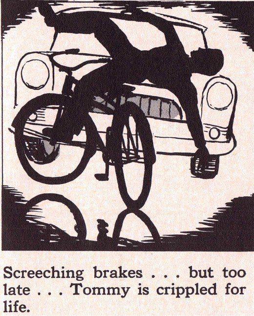 Vintage children safety manual Vintage Illustrated Manuals - safety manual