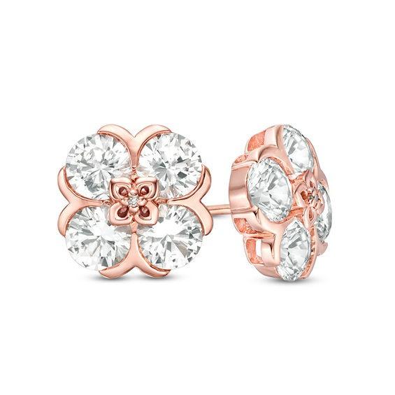 10K Gold Earring,White gold earring,Rose gold earring,White Diamond gold earring,gold stud earring,push /& post earring,diamond earring