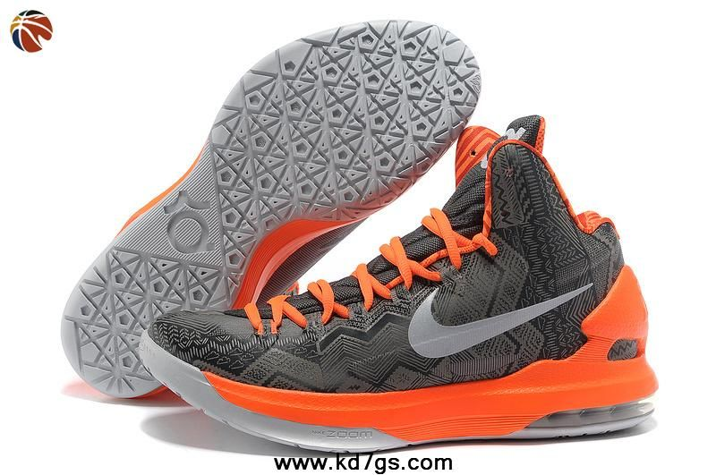 brand new 50806 29fdc Cheap Nike KD V Grey Orange BHM Black History Month 583107 001 Factory  Outlet