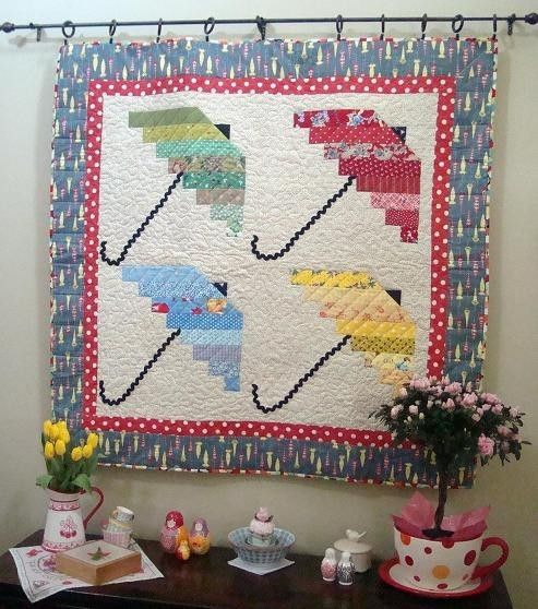 Spring Showers 4 Umbrella Quilt Pattern - pdf download only. $7.00 ... : spring quilt patterns - Adamdwight.com