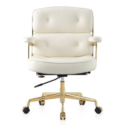 Features 1 Year Warranty Tilt Swivel Product Type Desk Chair Base Material Metal Dimensi Chic Office Chair White Office Chair Gold Office Chair