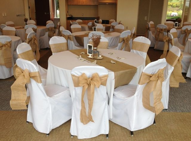Amazing Rustic Wedding With Burlap Chair Sashes And Burlap Runners Pabps2019 Chair Design Images Pabps2019Com