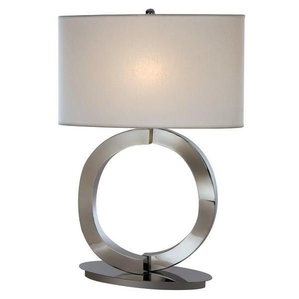 Trend Lighting Infinity Table Lamp   Polished Chrome ($492) ❤ Liked On  Polyvore Featuring