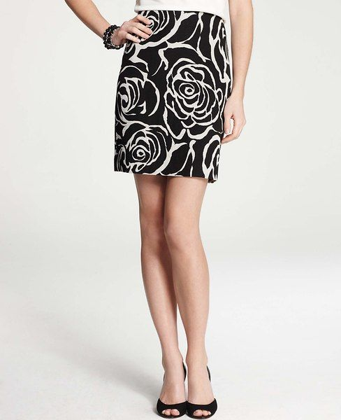 Ann Taylor - AT Skirts - Floral Jacquard Skirt