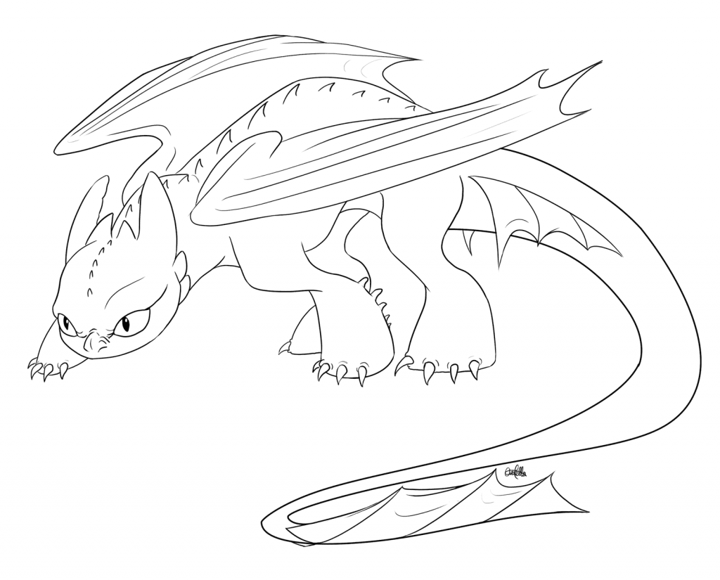 Toothless Coloring Pages - Best Coloring Pages For Kids  How