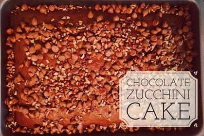 Recipe:  Chocolate Zucchini Cake http://www.twohensandtheirchicks.com/recipe-chocolate-zucchini-cake.html