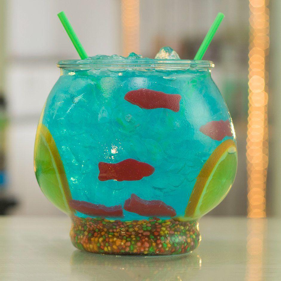 The Fishbowl Recipe Raspberry vodka, Blue martini