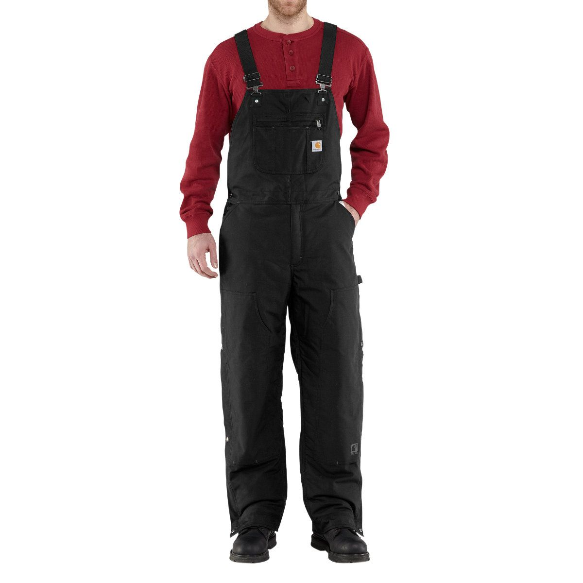 carhartt mens quick duck jefferson bib overall 837542 on walls men s insulated hunting coveralls id=40192