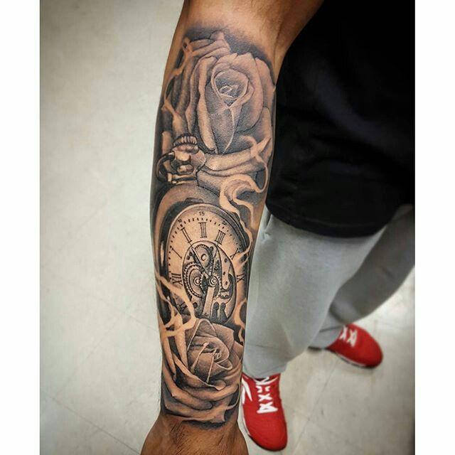 Left Arm Sleeve Tattoos Watch Tattoos Forarm Tattoos