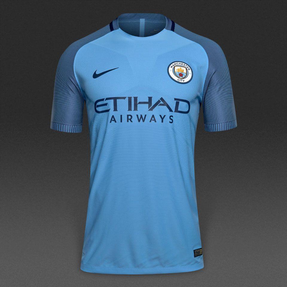 Nike Manchester City 16/17 SS Home Vapor Match Shirt - Mens Replica -  Shirts - Field Blue/Midnight Navy