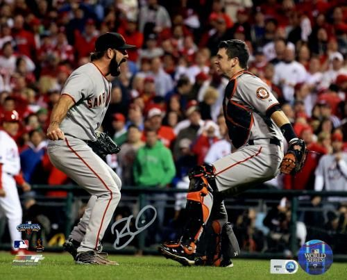 Brian Wilson Autographed 8x10 Photo with Posey - JSA #SportsMemorabilia #SanFranciscoGiants