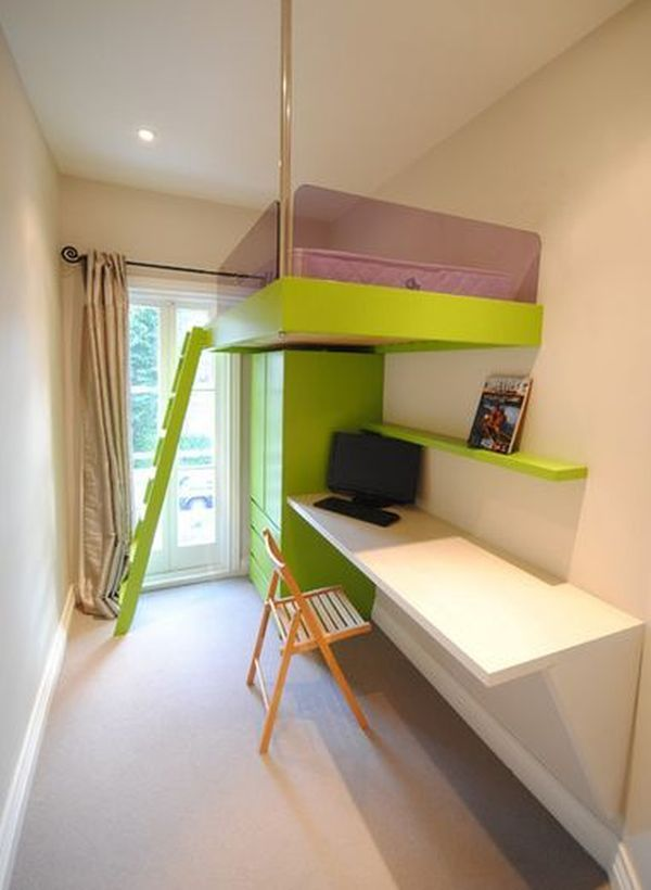 mixing work with pleasure loft beds with desks underneath. Black Bedroom Furniture Sets. Home Design Ideas