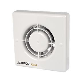 Manrose Mg100t 12w Bathroom Extractor Fan With Timer White 240v Bathroom Extractor Fan Bathroom Extractor Extractor Fans