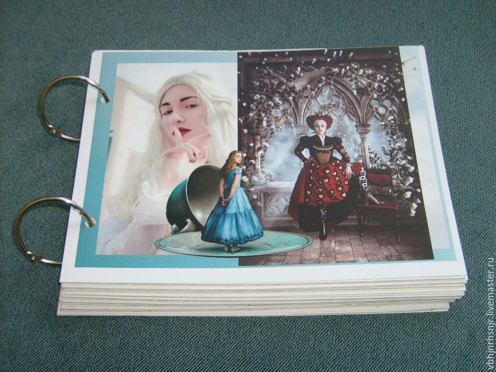 """Купить Блокнот для записей """"Чаепитие с мартовским зайцем."""" Алиса - разноцветный, блокнот ручной работы"""