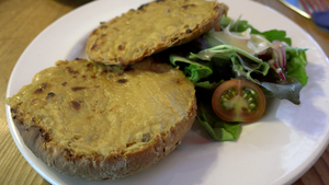 Welsh rarebit, a béchamel or ale based Cheese sauce.