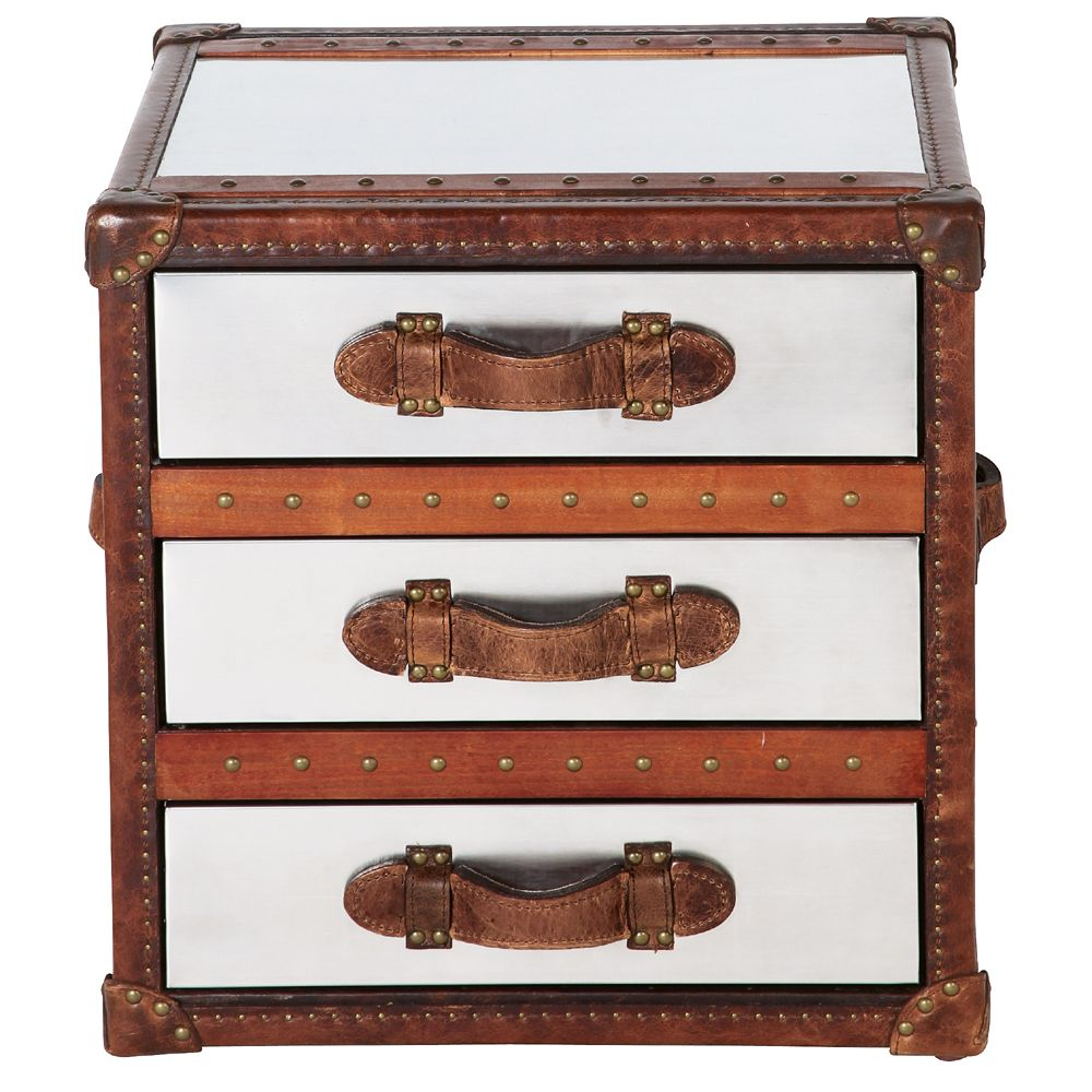 Furniture · bedside - Pimlico 2 Drawer Bedside Metals, Trunks And Feathers