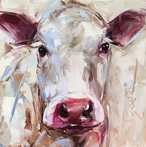 Dpw Original Fine Art Auction Original Contemporary White Co C Olga Wagner Cow Painting Cow Art Animal Paintings