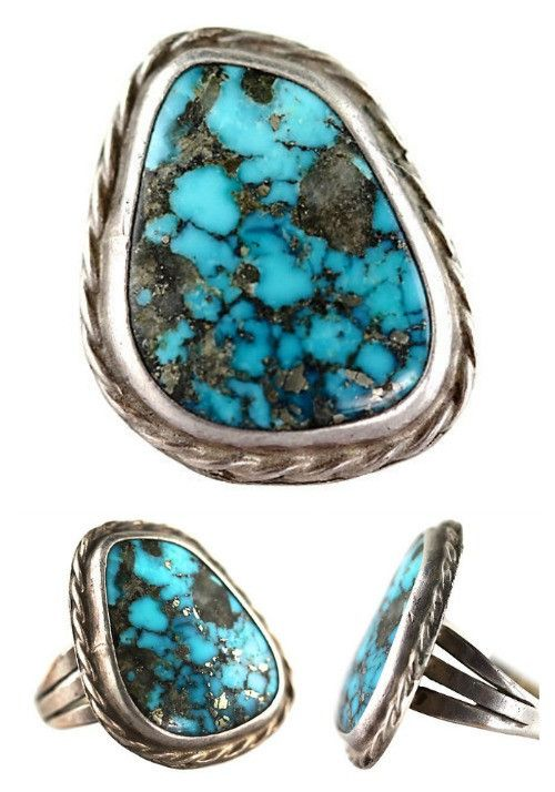 Navajo Morenci Turquoise Ring Sterling Silver – Yourgreatfinds