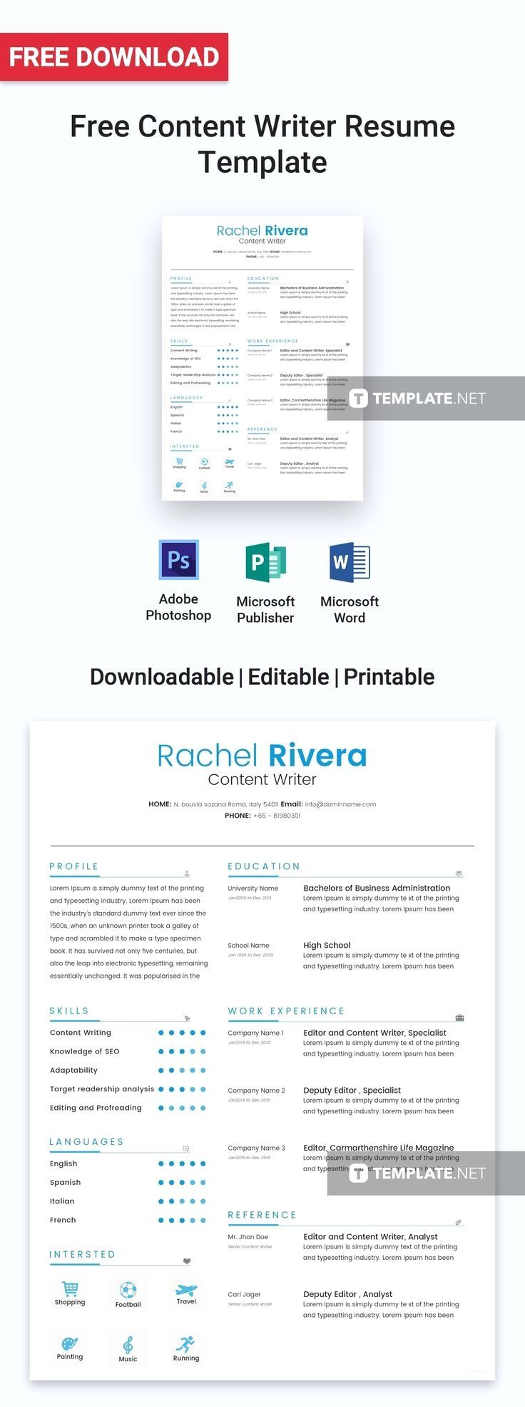 This resume, with its minimalistic design, is perfect for
