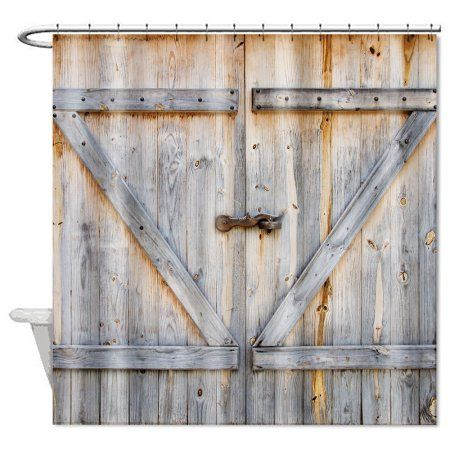 Rustic Country Barn Wood Door Bathroom Bath Polyester Waterproof Shower Curtain 72 X 72 With Images Wooden Garage Doors Rustic Decor Curtains Living Room Decor Rustic