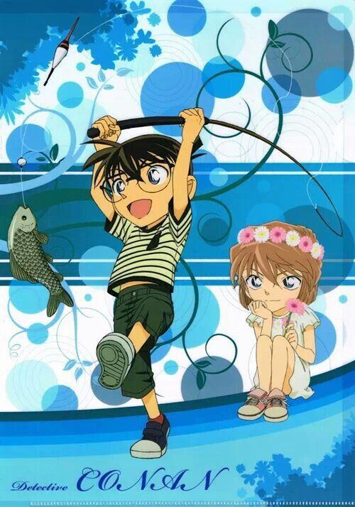 Edogawa Conan and Haibara Ai | Detective Conan | Pinterest