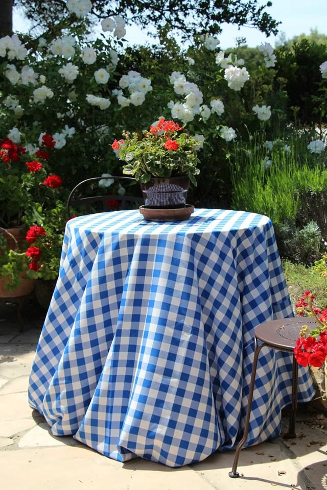 Royal Blue And White Poly Check Tablecloth By Premier Table Linens. Proudly  Made In The USA | Checkered Gingham Tablecloths | Pinterest | Checkered ...