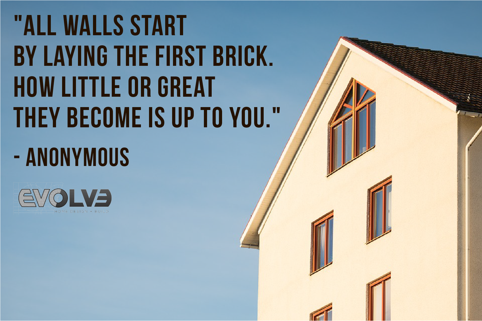 All walls start by laying the #FirstBrick. How #Little or ...