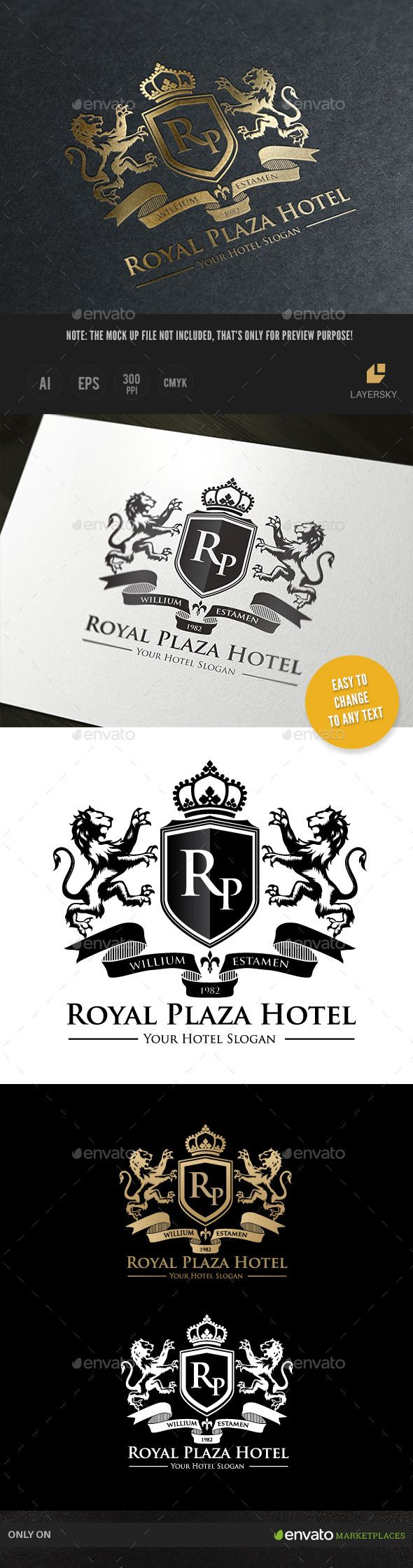 Royal Hotel Logo Template #design #logotype Download: http ...